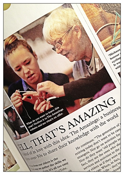 Picture of a recent magazine article in (Mollie Makes Issue 22) about The Amazings.