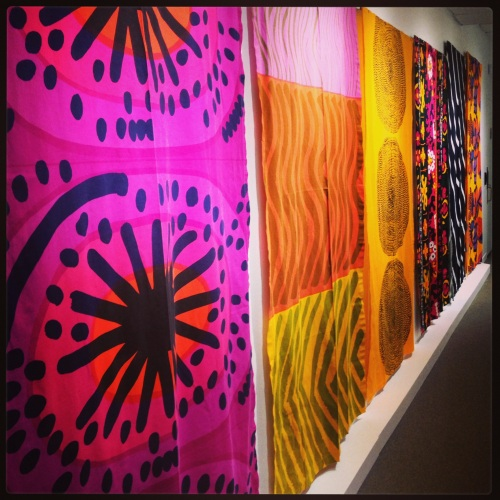Marimekko Fabrics, screen printed cotton.  The first two from the left were designed by Maija Isola, on of the company's chief designers, in the early 1960s.