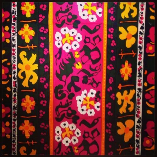Pippurikera pattern, 1963, designed by Annika Rimala, screen printed cotton.