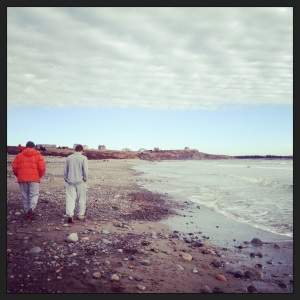 Walking on Hirtles Beach, Christmas Day 2012