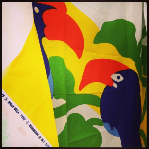 """Pepe"" by Maija Isola for Marimekko Oy, 1972 (my own collection)"