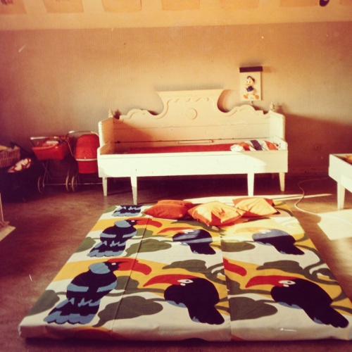 Promotional photograph showing 'Pepe' comforter in the foreground.