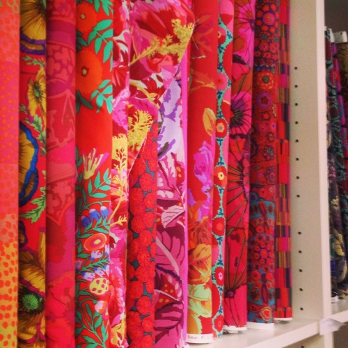 Fabrics from the Kaffe Fassett Design Collection.