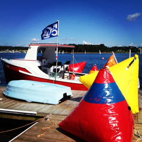 The Race Committee headquarters for LYC Sailfest 2013.